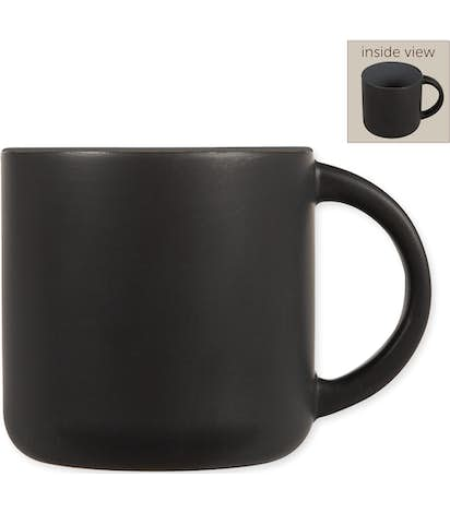 14 oz. Ceramic Two-Tone Black Minolo Mug - Black / Storm Grey