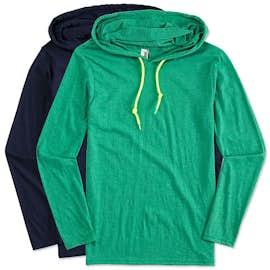 Canada - Anvil Hooded Long Sleeve T-shirt