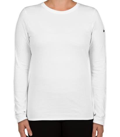 92833fc4c6 Custom Nike Women s 100% Cotton Long Sleeve T-shirt - Design Women s ...