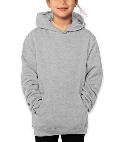 Champion Youth Double Dry Eco Pullover Hoodie - Light Steel