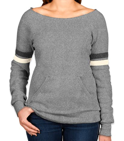 Alternative Apparel Women's Tri-Blend Wideneck Sweatshirt - Eco Grey