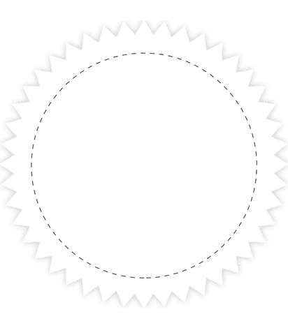 Full Color 2 in. Starburst Roll Labels (500 per roll) - White
