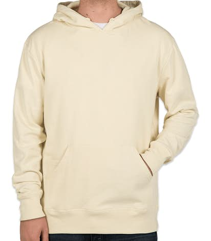 Threadfast Tri-Blend Pullover Hoodie - Cream