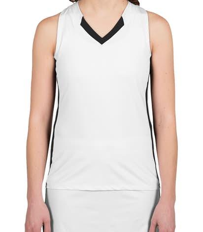 Teamwork Women's Colorblock Racerback Lacrosse Jersey - White / Black