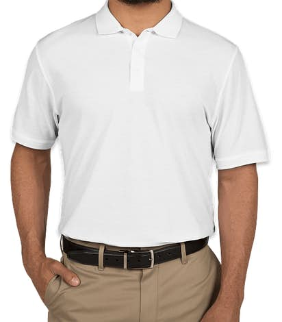 Port Authority Lightweight Classic Pique Polo - White