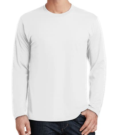 Port & Company Fan Favorite Long Sleeve T-shirt - White
