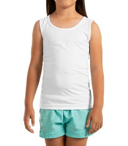 LAT Youth Girls Tank - White