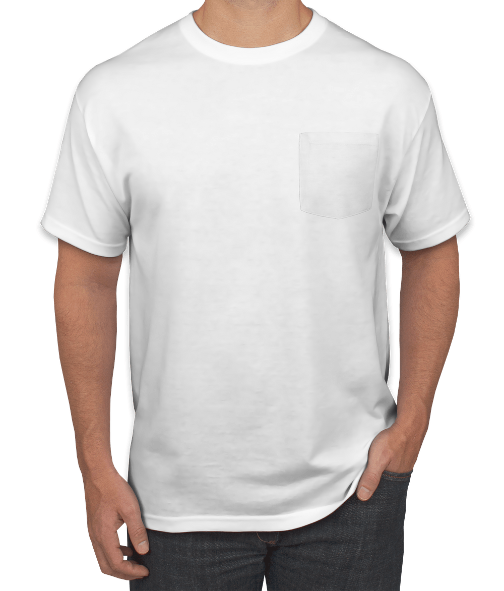 Custom Jerzees 5050 Pocket T Shirt Design Short Sleeve T Shirts