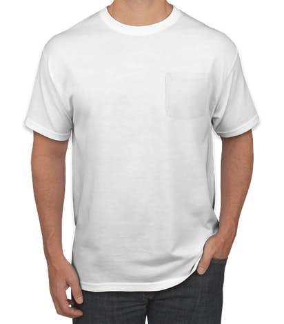 Jerzees 50/50 Pocket T-shirt - White