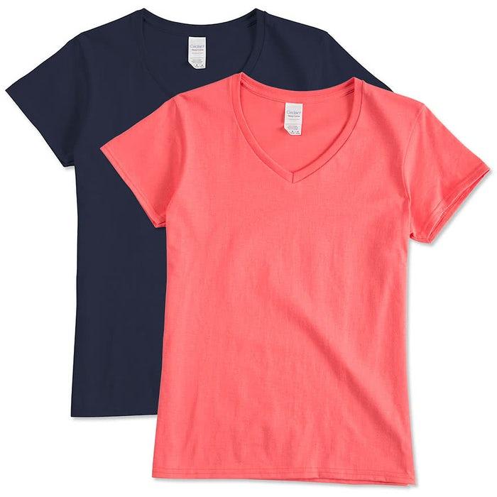 Custom Gildan Women S 100 Cotton V Neck T Shirt Design Women S Short Sleeve T Shirts Online At Customink Com What does women's relaxed fit t shirt mean? 100 cotton v neck t shirt