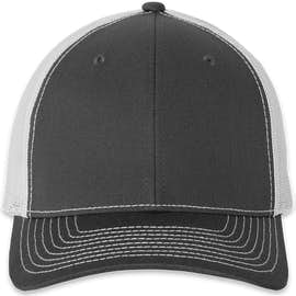 Richardson Snapback Trucker Hat - Color: Charcoal / White