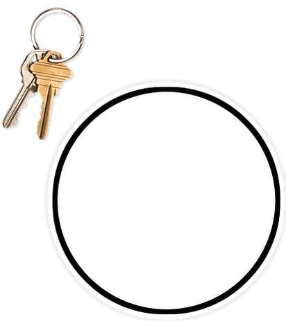 5.5 in. Circle Car Magnet w/ contrast trim - White / Black