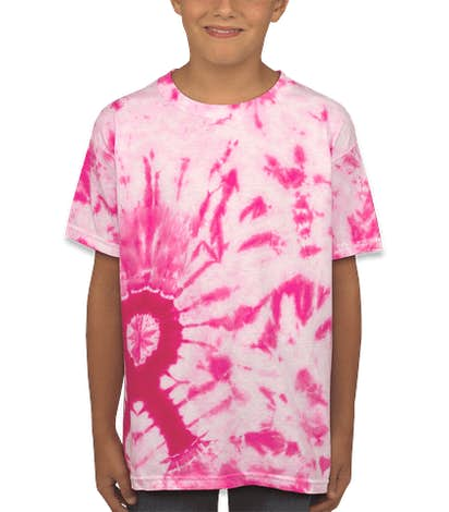 Dyenomite Youth Charity Ribbon Tie-Dye T-shirt - Pink