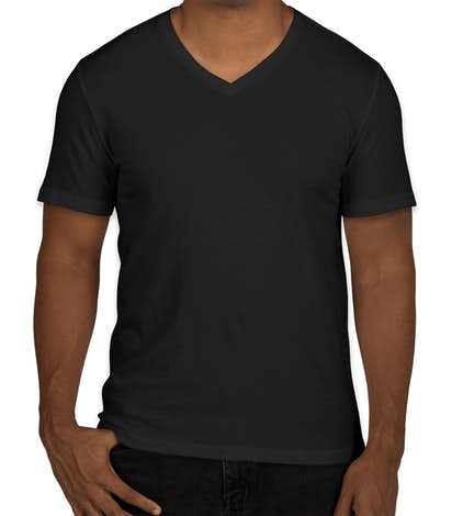 GAP Essential Short Sleeve V-Neck Tee - True Black
