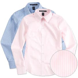 Devon & Jones Women's Banker Stripe Dress Shirt