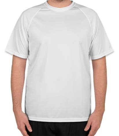 Augusta Attain Short Sleeve Raglan Performance Shirt - White