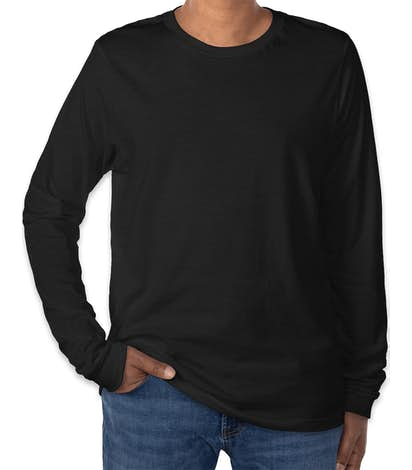 Bella + Canvas Tri-Blend Long Sleeve T-shirt - Solid Black Tri-Blend