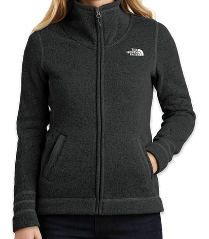 The North Face Women's Sweater Fleece Jacket - TNF Black Heather