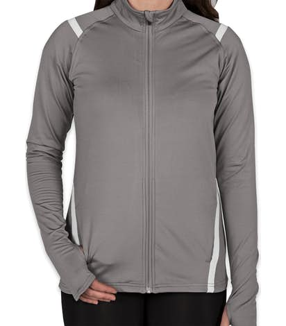 Augusta Women's Freedom Performance Full Zip Jacket - Graphite / White