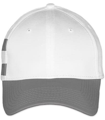 New Era Stretch Fit Striped Cotton Hat - White / Grey