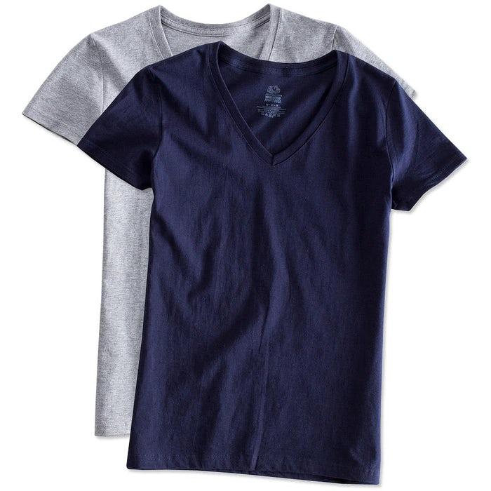 295fb0992 Custom Fruit of the Loom Women's 100% Cotton V-Neck T-shirt - Design ...