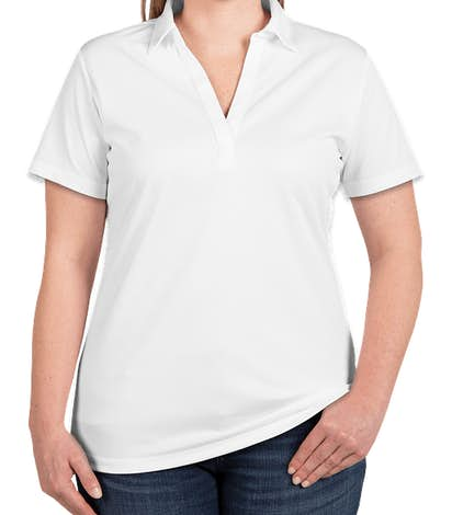 Port Authority Women's Silk Touch Performance Polo - Embroidered - White