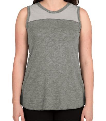 Augusta Women's Colorblock Crossback Tank - Slate / Athletic Heather