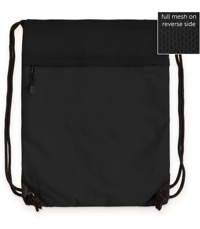 Port Authority Mesh Drawstring Bag - Black
