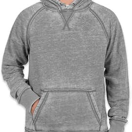 J. America Acid Wash Pullover Hoodie - Color: Cement