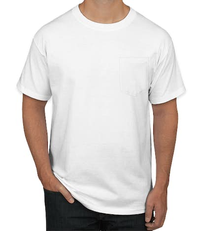 Hanes Beefy Pocket T-shirt - White
