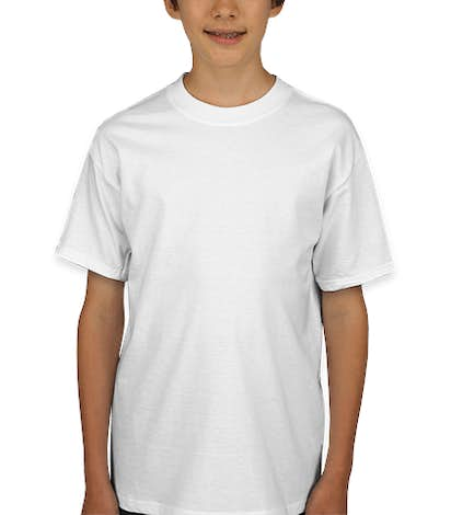 Hanes Youth Beefy-T - White