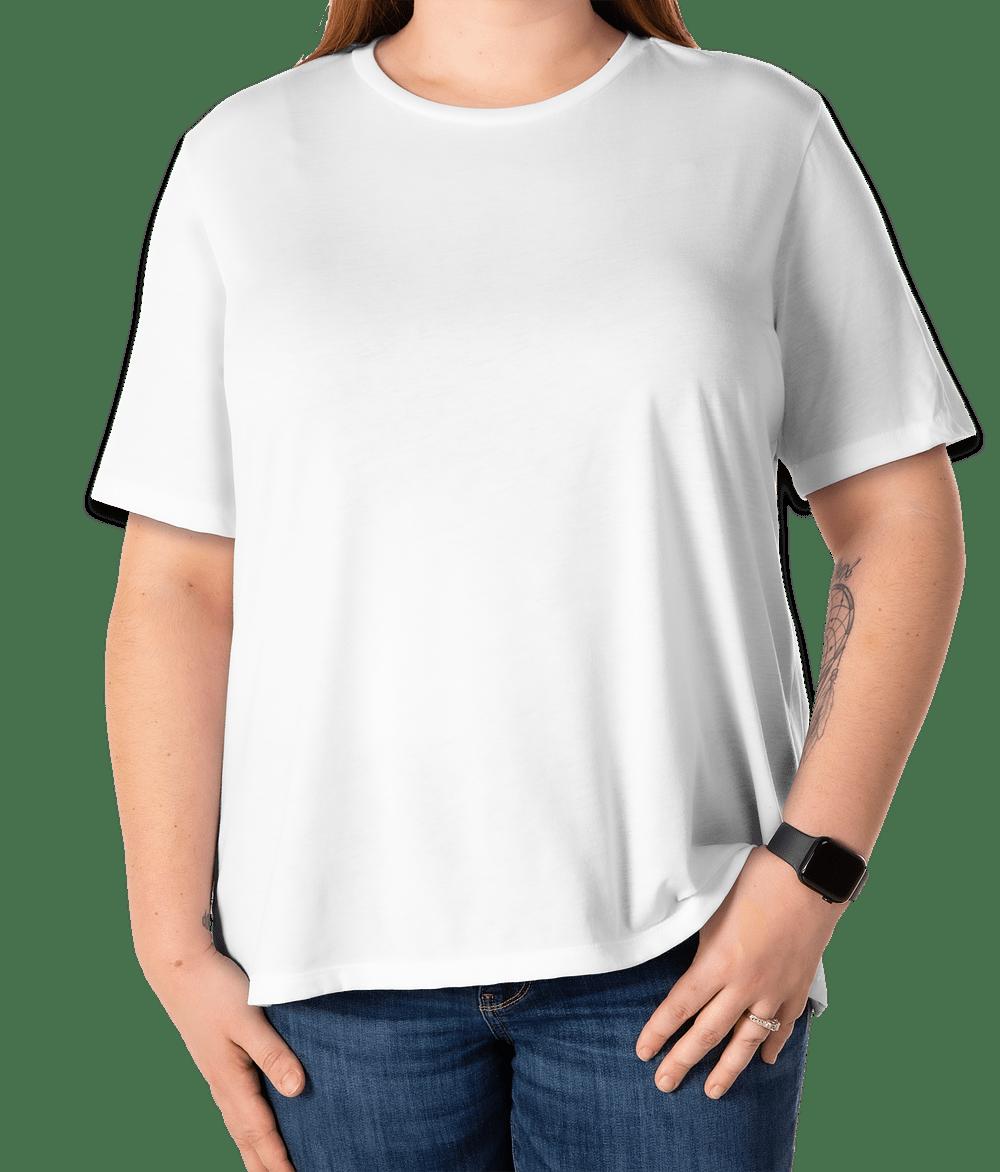 Canvas Size For T Shirt Design | Custom Bella Canvas Women S Tri Blend T Shirt Design Women S