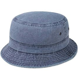 Mega Cap Pigment Dyed Twill Washed Bucket Hat