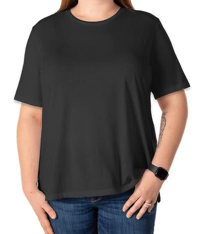 Bella + Canvas Women's Tri-Blend T-shirt - Charcoal Black Tri-Blend