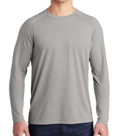 Sport-Tek Tri-Blend Long Sleeve Performance Shirt - Light Grey Heather