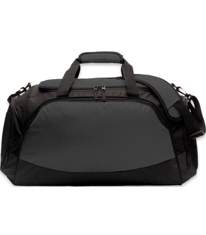 Large Active Duffel Bag - Embroidered - Dark Charcoal / Black