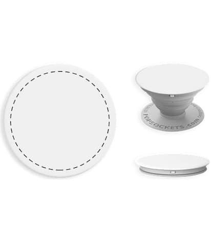 Full Color PopSocket® - White / Light Grey