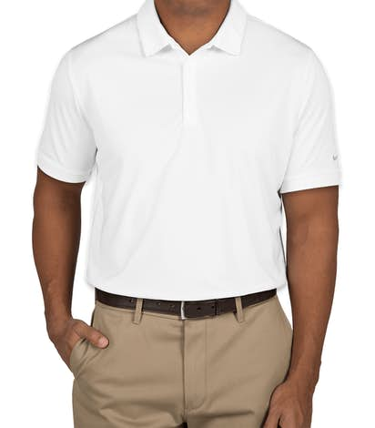 Nike Golf Dri-FIT Smooth Performance Polo - White