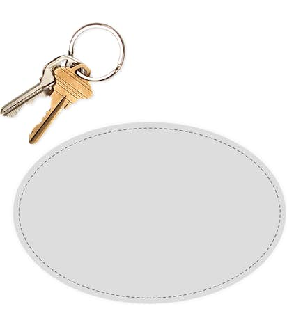 6 in. x 4 in. Oval Static Stick Window Cling - Clear