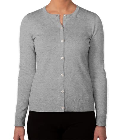 Brooks Brothers Women's Supima Cotton Cardigan - Grey