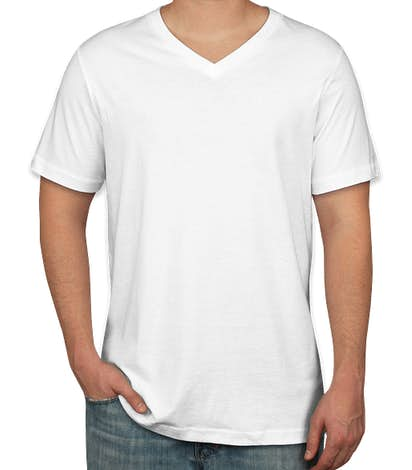 Bella + Canvas Jersey V-Neck T-shirt - White