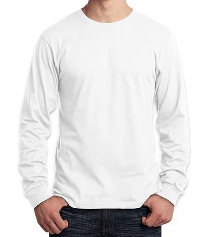 Port & Company Core Cotton Long Sleeve T-shirt - White