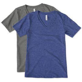 Bella + Canvas Women's Tri-Blend V-Neck T-shirt