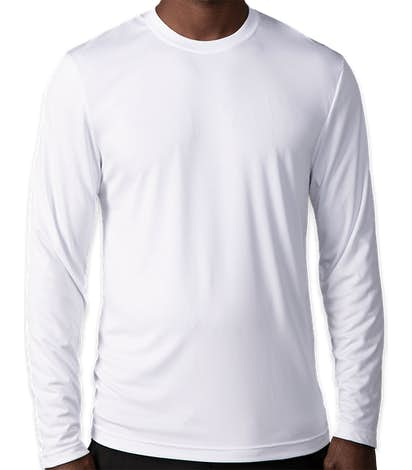 Hanes Cool Dri Long Sleeve Performance Shirt - White