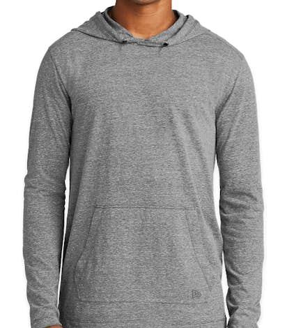New Era Tri-Blend Long Sleeve Hooded Performance Shirt - Shadow Grey
