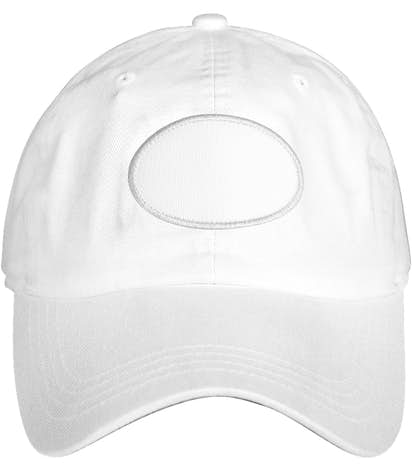 Oval Printed Patch Hat - Baseball - True White
