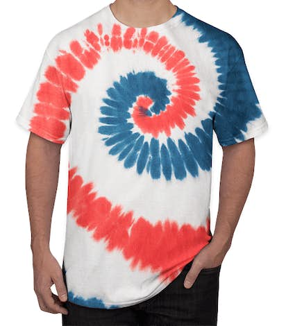 Port & Company Tie-Dye T-shirt - USA Rainbow