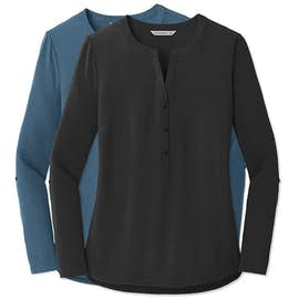 Women's Henley Tunic Blouse