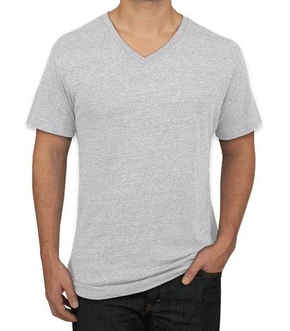 Next Level Tri-Blend V-Neck T-shirt - Heather White