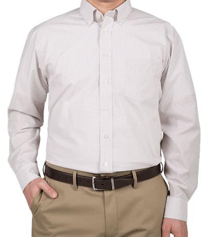 Devon & Jones Gingham Dress Shirt - Silver